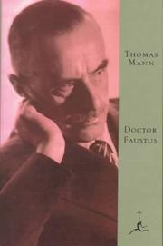 Cover of: Doctor Faustus | Thomas Mann