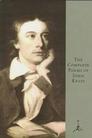 Cover of: The Complete Poems of John Keats