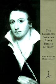 Cover of: The complete poems of Percy Bysshe Shelley | Percy Bysshe Shelley
