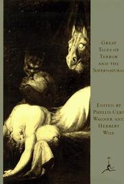 Cover of: Great Tales of Terror and the Supernatural (Modern Library) |