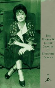 Cover of: The Poetry and Short Stories of Dorothy Parker