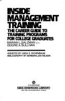 Cover of: Inside management training
