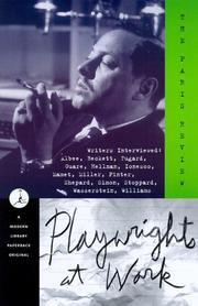 Cover of: Playwrights at work | edited by George Plimpton.