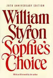 Cover of: Sophie's Choice