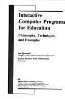 Cover of: Interactive computer programs for education | Jurg Nievergelt