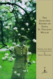 Cover of: The selected poetry of Edna St. Vincent Millay