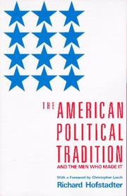 Cover of: The American political tradition