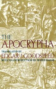 Cover of: The Apocrypha by by Edgar J. Goodspeed ; with an introduction by Moses Hadas.