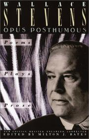 Cover of: Opus posthumous
