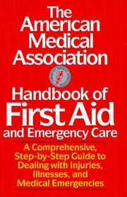 Cover of: The American Medical Association handbook of first aid & emergency care |