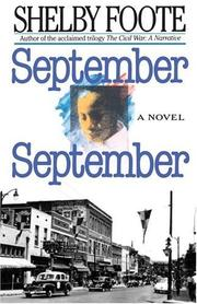 Cover of: September, September | Shelby Foote