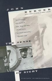 Cover of: The sense of sight: writings