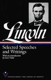 Cover of: Selected speeches & writings