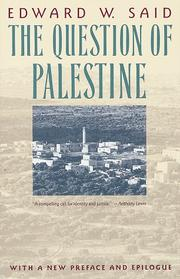 Cover of: The question of Palestine