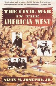Cover of: The Civil War in the American West