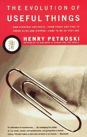 Cover of: The evolution of useful things | Henry Petroski