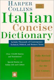 Cover of: Collins Italian Concise Dictionary, 3e (Harpercollins Concise Dictionaries) | HarperCollins