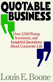 Cover of: Quotable business