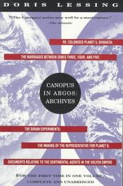 Cover of: Canopus in Argos: archives