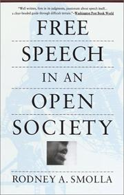 Cover of: Free speech in an open society