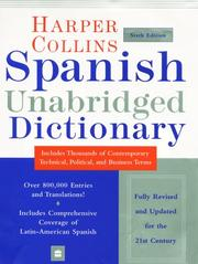 Cover of: HarperCollins Spanish Unabridged Dictionary