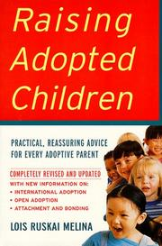 Cover of: Raising adopted children | Lois Ruskai Melina
