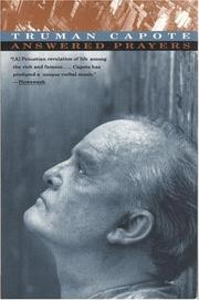 Cover of: Answered prayers | Truman Capote