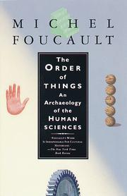 Cover of: The Order of Things | Michel Foucault