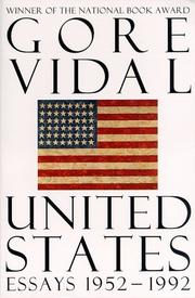Cover of: The United States | Gore Vidal