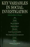 Cover of: Key variables in social investigation