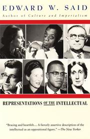 Cover of: Representations of the intellectual: the 1993 Reith lectures