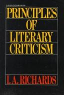 Cover of: Principles of literary criticism
