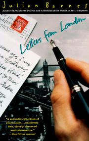 Cover of: Letters from London