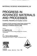 Cover of: Progress in advanced materials and processes