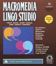 Cover of: Macromedia Lingo Studio (Random House - New Media Series) | Tony Bove