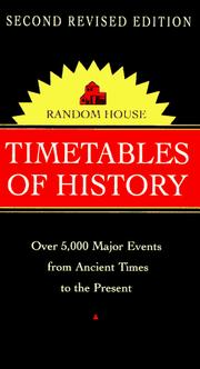 Cover of: Random House Timetables of History