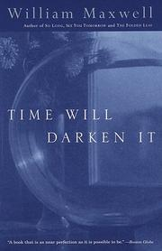 Cover of: Time will darken it