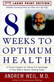 Cover of: Eight Weeks to Optimal Health