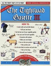 Cover of: The Tightwad gazette III