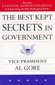 Cover of: The best kept secrets in government