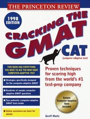 Cover of: Cracking the GMAT CAT | Princeton Review