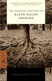 Cover of: The Essential Writings of Ralph Waldo Emerson