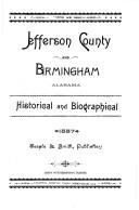 Jefferson County and Birmingham, Alabama by John Witherspoon DuBose
