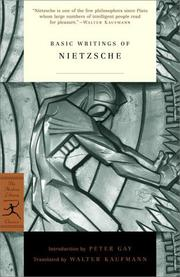 Cover of: Basic writings of Nietzsche
