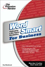 Cover of: Word smart for business | Paul Westbrook