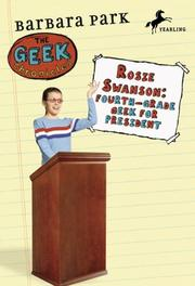 Cover of: Rosie Swanson: fourth-grade geek for president