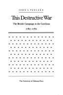 Cover of: This destructive war | John S. Pancake