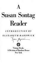 Cover of: A Susan Sontag reader