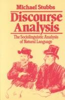 Cover of: Discourse analysis