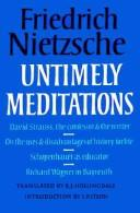 Cover of: Untimely Meditations